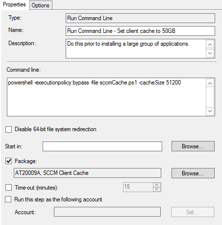 SCCM Client Cache Configuration Improved Powershell Script